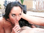 Well-shaped dame Ava Addams burns with desire but there is just young pool cleaner around 9