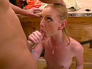 Man loved redheads and as he found out her pussy was ginger too he hurried to shove schlong inside 5
