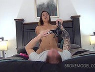 Porn agent gets lucky today: greedy for cock Latina girl visits his studio to show off skills