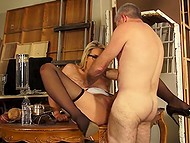 Classy blonde with glasses enjoys partner's throbbing fuckstick in her moist cunny 8