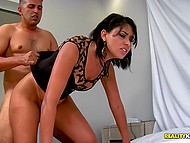 Brazilian chick and partner are focused on sex position which is called doggystyle 9