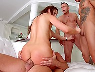 Number of fuckers rises during anal banging but Tina Kay doesn't care about it 8
