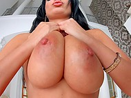 French pornstar Anissa Kate undresses to show all her perfect curves on camera 4