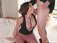 MILF with dirty tendencies adores nothing better than being toughly nailed in mouth by stepson