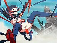 Колдунья зачаровала тентакли и те оттрахали героиню японского мультфильма во все дырочки