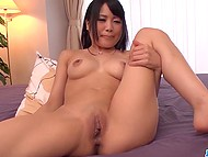 Teen Japanese girl and boyfriend will fuck just after marriage but now they use adult toys 4