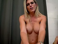 Chesty stepmother Cory Chase loses her mind and lets stepson penetrate both lustful caves 4