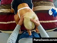 Seductive courtesan Puma Swede smartens herself up in bathroom to service client well 5