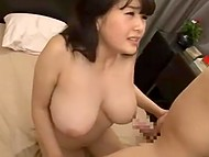 Partner couldn't leave such a voluptuous woman from Japan without titfuck before intercourse 6