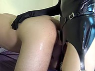 Amateur compilation of female domination scenes featuring mistresses in various uniforms 9