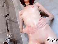 Young stripper from Italy can't even take a shower without playing with lustful pussy 9