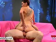 Fuckers hospitably meet skinny Portuguese slut Susana Melo in German porn studio 7