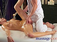 Young man from massage parlor misused his post and did it to Russian client Tori Hendrix 5