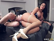 Swanky MILF Jasmine Jae with huge coconuts hires chef to cook delicious food and fuck her 8