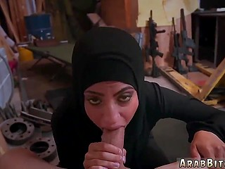 Arab spy has to suck American soldier's penis but now she knows where is located warehouse with weapons