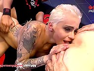 Austrian bitch Mila Milan visits German fuckers who give her cocks for sucking and penetrate cunt 5
