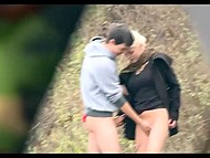After some unlucky tries blonde hooker from Czech picks up young guy to have sex outdoors 10