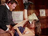 MILF is used to do everything in the best shape so she tries her best to satisfy big man in saloon 6