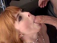 Spicy girl Penny Pax can't stop enjoying penis of handsome man working inside her mouth and twat 9