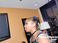 Black honey Mz Beauti Doll takes one penis in mouth and gives succulent pussy for the second 4