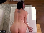 Busty female Reagan Foxx is used to be fucked by cameraman she sees for the first time 10