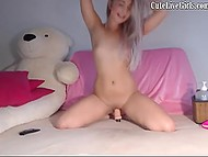 Italian doll with long hair makes her pussy soak with toys for devoted internet subscribers 4