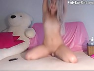 Italian doll with long hair makes her pussy soak with toys for devoted internet subscribers 8