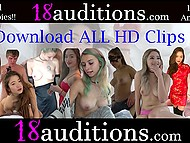 Barely legal girl with green hair comes to the casting, where her pussy getting inseminated by older agent 11