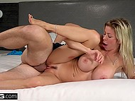 Female with huge boobies Alexis Fawx tempted photographer right in the middle of shoot
