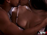Stepdaughter is out of town and gorgeous Latina Mercedes Carrera serves her boyfriend's black dick 3