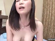 Smart guy licks hairy pussy of big-boobied Japanese girlfriend to make upcoming penetration pleasant 10