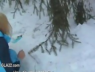 Partner doesn't care of Croatian woman's state of health when fucks her on snowdrift 4