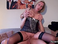 Buxom German mature comes to young neighbor because she misses strong penis a lot 9
