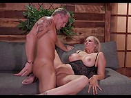 After rendezvous in restaurant, classy MILF was in mood to have hot sex with athletic lover 5