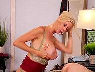 Imperious stepmom Alexis Fawx forces poor stepdaughter Carolina Sweets to lick her pussy 11
