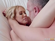 Shameless man enters bathroom to buxom MILF Brandi Love and pounces on her pussy 9