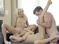 Red-hot girl and her stepmother inspire common boyfriend to drill their openings in non-stop mode 7