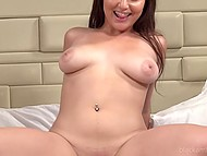 There are two good moments for Latina chick at porn casting: interracial sex and pussy creampie 5