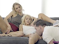 After Alix Lynx is fucked by stepdaughter's boyfriend, she teaches him how to satisfy Elsa Jean 10