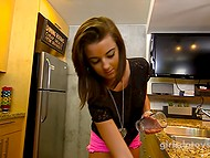 Fetching girl is very brave because not every girl will agree to play with vibrator on camera 7