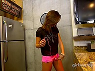 Fetching girl is very brave because not every girl will agree to play with vibrator on camera 8
