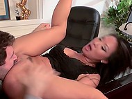 Dirty-minded Asian secretary Asa Akira loses her mind because of passionate sex with boss in office 4