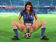 Italian football team misses the World Cup, so buxom Valentina Nappi records hot video for supporters