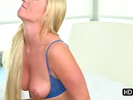 Meeting with old friend means fucking for blonde whore who takes young man home and impales pussy on his dick 7