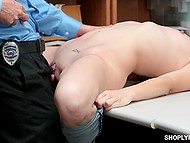 Stealing is a very bad thing and store security officer fucks small-tittied brunette to punish her 4