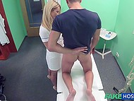 Doctor craves for something hard in her pussy and tempts patient into pussy-nailing 4