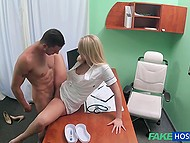 Doctor craves for something hard in her pussy and tempts patient into pussy-nailing 9