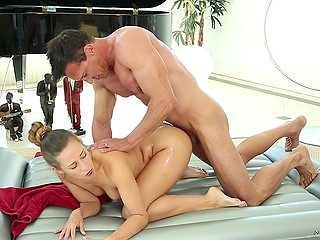 Body of Cassidy Klein's client is so athletic that girl can't resist enjoying doggystyle position