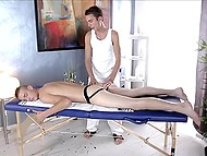 Compilation of porn videos starring gay masseurs stretching their clients' assholes 6