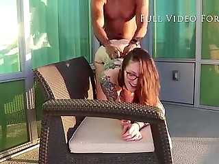 Emo girl with glasses gets enough of sucking BBC and receives it in pussy from behind